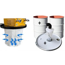 Dust Vacuum RDTV180 Combo with Cyclone with drums ATEX certified