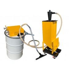 Sandblast vacuum 110/180 pneumatic with cyclone