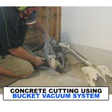 Concrete cutting vacuum system